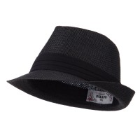 Fedora - Black Kid's Straw Black B, Fedora