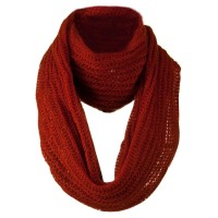 Scarf, Shawl - Rust Knit Snood Solid Scarf