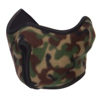 Face Mask - Green Camo Fleece Half Face Mask