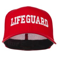 Embroidered Cap - Red Life Guard Embroidered Mesh Cap