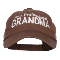 Embroidered Cap - Brown I'm a Professional Grandma Cap