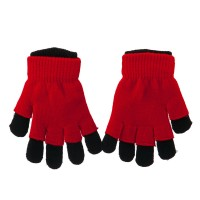 Glove - Black Red Ladies 3 in 1 Magic Glove