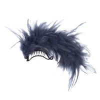 Band - Navy Ladies Feather Hair Clip