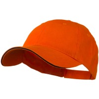 Ball Cap - Orange Navy Light Weight Brushed Cap