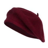 Beret - Burgundy Ladies Wool Beret