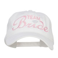 Embroidered Cap - White Team Bride Embroidered Cotton Cap