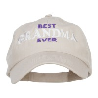 Embroidered Cap - Stone Best Grandma Ever Embroidery Cap
