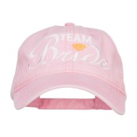 Embroidered Cap - Pink Team Bride Embroidered Cotton Cap