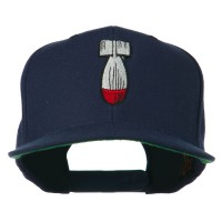 Embroidered Cap - Navy Missile Flat Bill Embroidered Cap