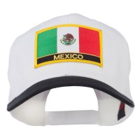 Embroidered Cap - Black White Mexico Flag Patched Cap