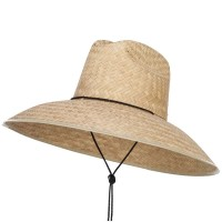 Outdoor - Light Natural Men's Crushed Safari Straw Hat