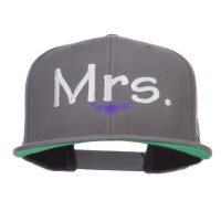 Embroidered Cap - Dk Grey Mrs Embroidered Snapback Cap