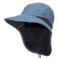 Outdoor - Smoky Blue Microfiber UV Large Bill Flap Hat