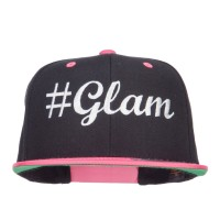 Embroidered Cap - Black Pink Glam Embroidered Snapback