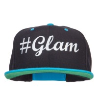 Embroidered Cap - Black Teal Glam Embroidered Snapback