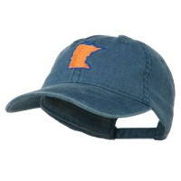 Embroidered Cap - Navy Minnesota Embroidered Cap
