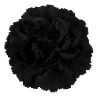 Pin , Badge - Black Multi Petal Flower Pin , Clip