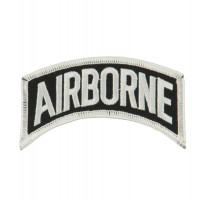 Patch - Airborne White Text Embroidered Patch