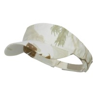 Visor - White Garment Washed Camo Visor