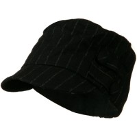 Cadet - Black Black Army Cadet Cap with Buttons