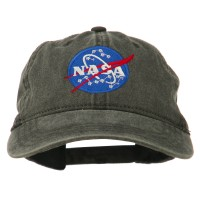Embroidered Cap - Black NASA Insignia Embroidered Dyed Cap