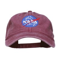 Embroidered Cap - Maroon NASA Insignia Embroidered Dyed Cap