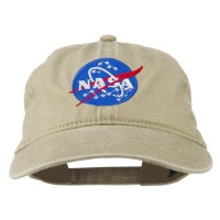 Embroidered Cap - Khaki NASA Insignia Embroidered Dyed Cap