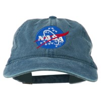 Embroidered Cap - Navy NASA Insignia Embroidered Dyed Cap