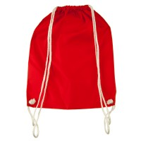 Bag - Red Nylon Drawstring Solid Backpack