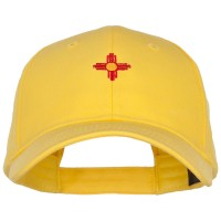 Embroidered Cap - Yellow New Mexico Flag Logo Low Cap