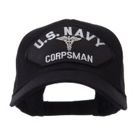 Embroidered Cap - Navy Corpsman Navy Fan Shape Large Patch Cap
