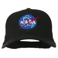 Embroidered Cap - Black NASA Insignia Embroidered Cap