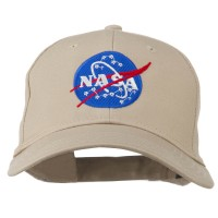 Embroidered Cap - Khaki NASA Insignia Embroidered Cap