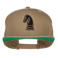 Embroidered Cap - Khaki Chess Knight Embroidered Cap