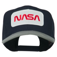 Embroidered Cap - Grey Navy NASA Patched Two Tone Cap