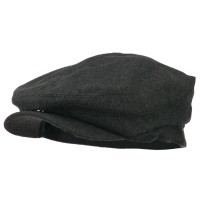 Ivy - Charcoal Big Size Men's Wool Blend Ivy Cap