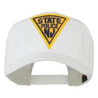 Embroidered Cap - White New Jersey Patched High Cap