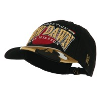Embroidered Cap - Black Gold War & Operations Constructed Cap