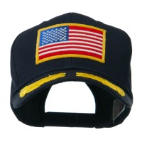 Embroidered Cap - Navy Oak Leaves American Patch Cap
