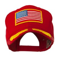 Embroidered Cap - Red Oak Leaves American Patch Cap