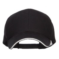 Ball Cap - Black Oversized Twill Cap
