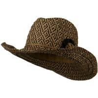 Western - Black Woman's Paper Wired Cowboy Hat