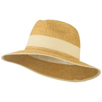 Western - Natural Braided Straw Panama Hat