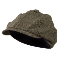 Newsboy - Brown Poor Boy Short Brim Newsboy
