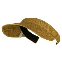 Visor - Toast Brown UPF 50+ Paper Braid Clip On Visor