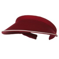 Visor - Wine Piping Cotton Twill Visor