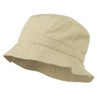 Bucket - Stone Polo Cotton Bucket Hat