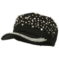 Cadet - Black Stones Pearl Military Army Cap