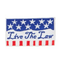 Patch - White Blue USA Keep the Law Patches