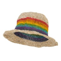 Bucket - Rainbow Hemp Hat with Rainbow